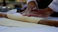 Dough And Hands Close Up video