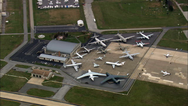 Dover Air Force Base  - Aerial View - Delaware,  Kent County,  United States video