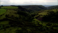 Down Cheddar Gorge  - Aerial View - England, Somerset, Sedgemoor District, United Kingdom video