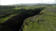 Down Goredale Scar  - Aerial View - England, North Yorkshire, Craven District, United Kingdom video