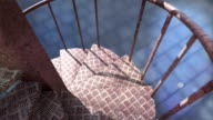 down the iron spiral stairs outside video