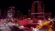 Down Town Phoenix Time lapse at night 15 video
