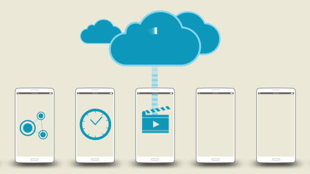 Download application data to cloud service concept video