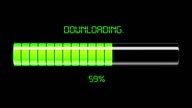 Downloading and uploading process. video