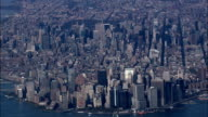 Downtown And Manhattan From 5000Ft - Aerial View - New York,  New York County,  United States video
