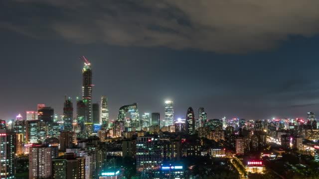 T/L TD Downtown Beijing and Urban Skyline, Night / Beijing, China video