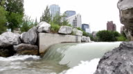 Downtown Calgary spillway video