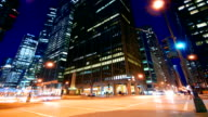 Downtown Chicago Night Scene video