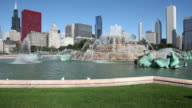 Downtown Chicago with Buckingham Fountain video