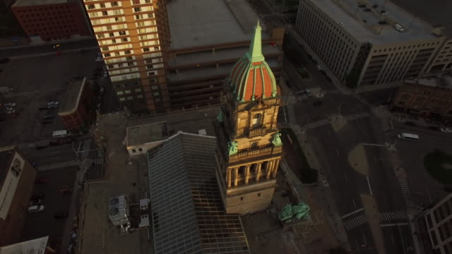 Downtown Detroit Aerial Reveal video
