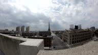 downtown detroit buildings time lapse video