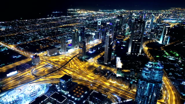 Downtown Dubai at night video