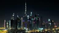 Downtown Dubai Skyline at night video