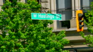 Downtown East Hasting Street Sign, Vancouver BC Canada, Eastside video