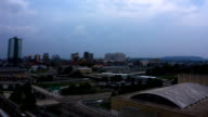 Downtown Knoxville Tennessee sunset time lapse video