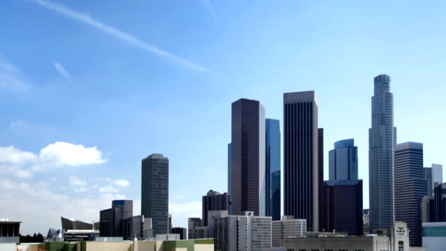 Downtown Los Angeles and Clouds video
