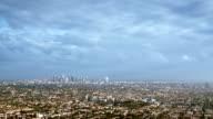 Downtown Los Angeles skyline video