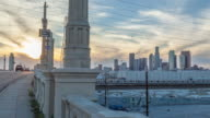 Downtown Los Angeles Sunset Motion Timelapse video