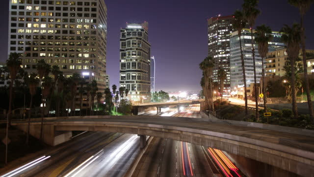 Downtown Los Angeles timelapse video