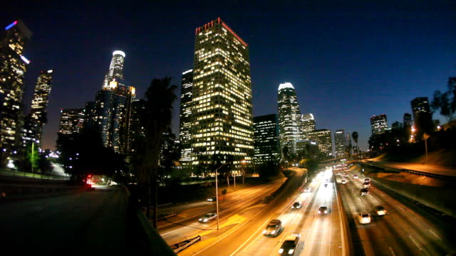 HD: Downtown Los Angeles (Timelapse) video