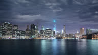 Downtown Manhattan and Brooklyn Bridge video