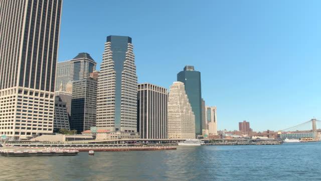 CLOSE UP: Downtown Manhattan Heliport helicopter landing platform on East River video