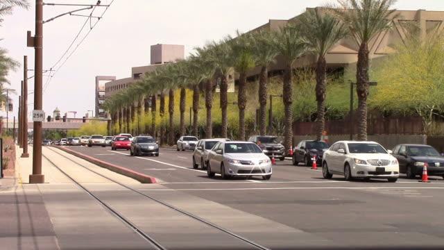 Downtown metro Phoenix, AZ traffic video