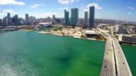 Downtown Miami aerial video