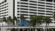 Downtown Miami Transit  Rail video