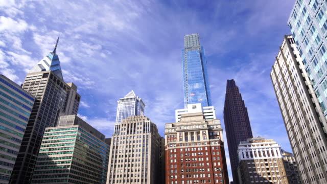 Downtown Philadelphia skyline video