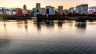 Downtown Portland Oregon Time Lapse Clouds Day to Night Cityscape video