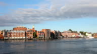 Downtown Portsmouth New Hampshire Skyline video