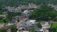 Downtown Put-in-Bay, Ohio seen from above video