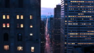 Downtown Toronto Business District Sunset Timelapse video
