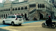 Downtown traffic street walkway at Malaysia kuala lumpur video