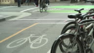 Downtown Vancouver Bicycle Lane 4K UHD video