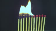 HD: Dozen matches in a domino effect video