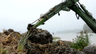 drag clearing coasts in the autumn lake video