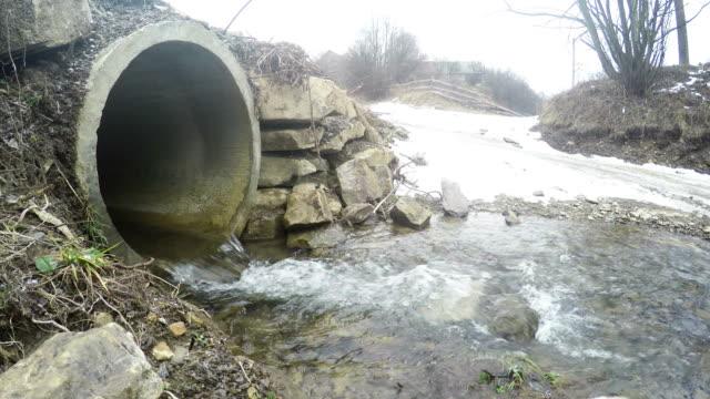 Drain pipe in winter video