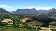 Drakenstein Mountains  - Aerial View - Western Cape,  Cape Winelands District Municipality,  Stellenbosch,  South Africa video