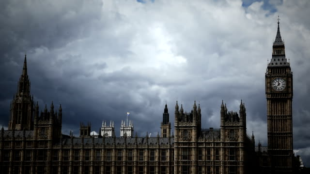 Dramatic Big Ben time lapse video