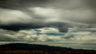 Dramatic Clouds over California Desert: Timelapse video