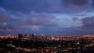 Dramatic Clouds over Downtown Los Angeles video