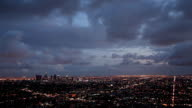 Dramatic Clouds over Los Angeles video