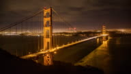 Dramatic Golden Gate Bridge at Night video
