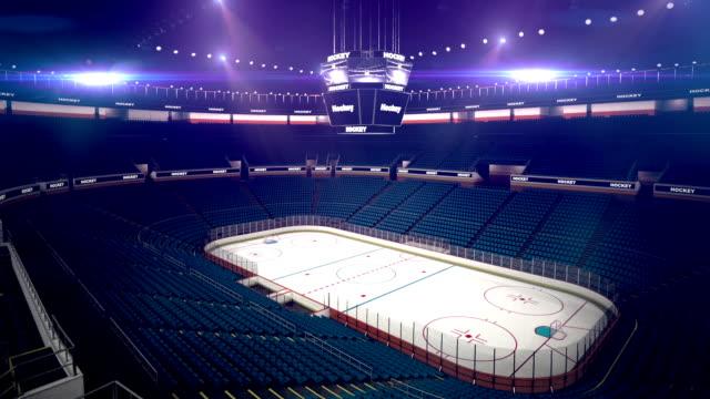 Dramatic hockey arena video