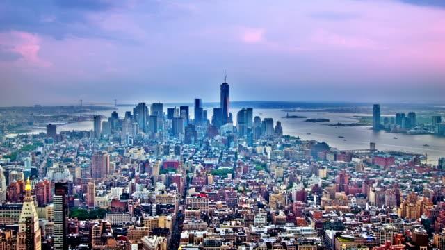 Dramatic sky over Manhattan video