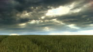 HD CRANE: Dramatic Sky Over The Countryside video
