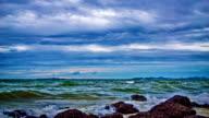 Dramatic sky, sea and stone video
