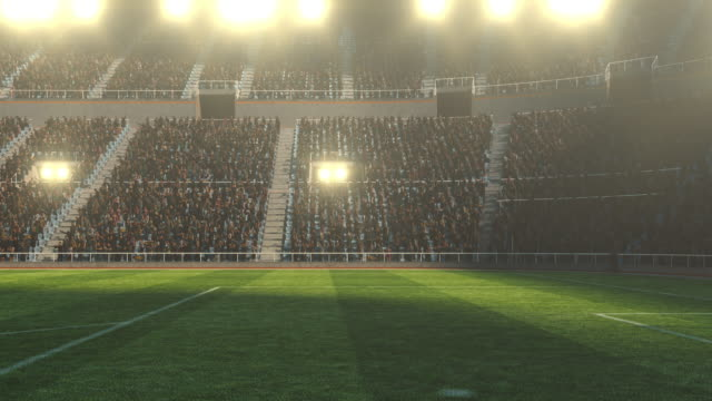 Dramatic soccer stadium full of spectators video